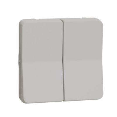 Mureva, mechanizm łącznika schodowego podwójnego, biały