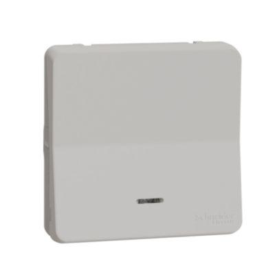 Mureva, mechanizm przycisku z podświetleniem, biały