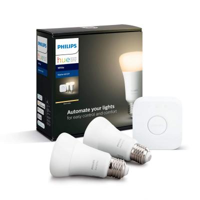 PHILIPS HUE - Zestaw startowy 2x LED BLUETOOTH WHITE 9W E27 + Mostek