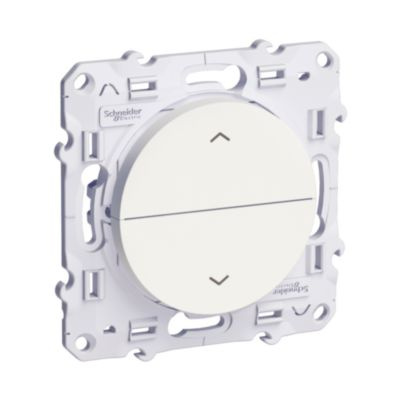 Przycisk żaluzjowy 2 przyciski, biały