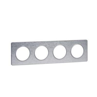 RAMKA 4-krotna, Touch (aluminium), Inox