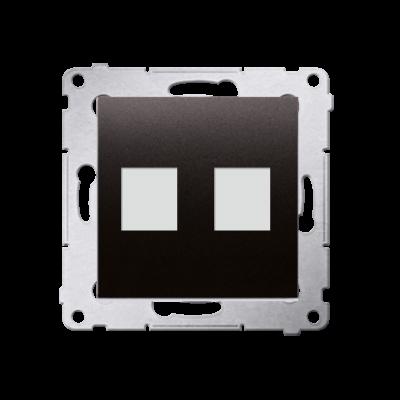 Simon 54 pokrywa gniazd teleinformatycznych na Keystone płaska podwójna antracyt, metalizowany