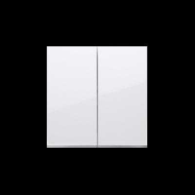Simon 54 klawisz podwójny do łączników i przycisków biały