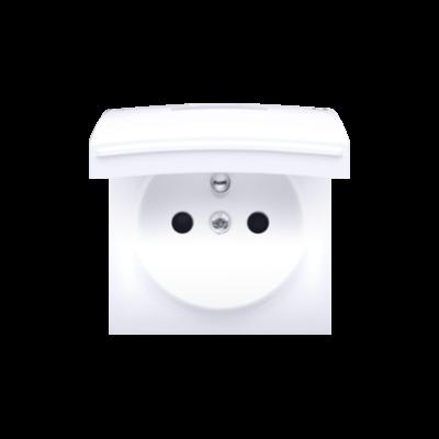 Simon 54 pokrywa do gniazda wtyczkowego z uziemieniem - do wersji IP44- klapka w kolorze pokrywy biały