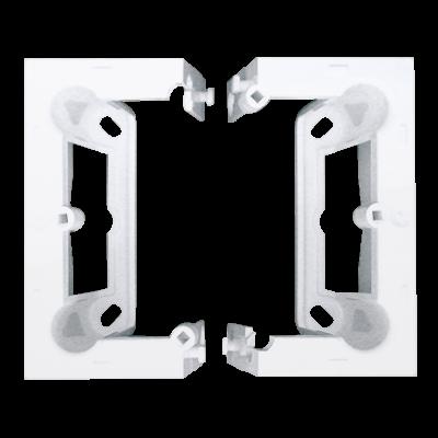 Simon 54 Premium puszka natynkowa składana, pojedyncza biały
