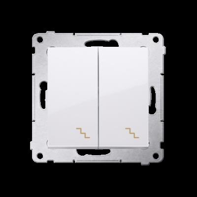 Simon 54 łącznik schodowy podwójny biały
