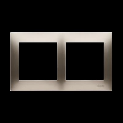 Simon 54 Premium ramka 2- krotna złoty mat, metalizowany
