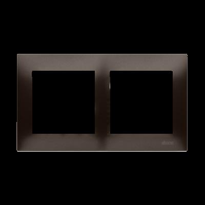 Simon 54 Premium ramka 2- krotna brąz mat, metalizowany