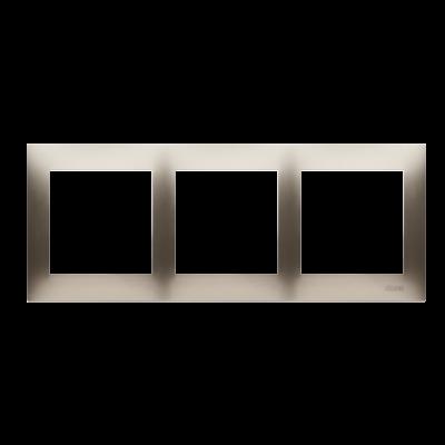 Simon 54 Premium ramka 3- krotna złoty mat, metalizowany