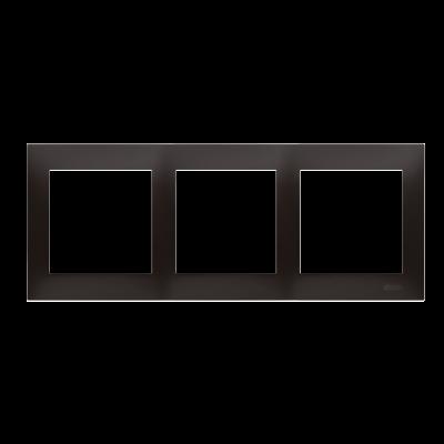 Simon 54 Premium ramka 3- krotna antracyt, metalizowany