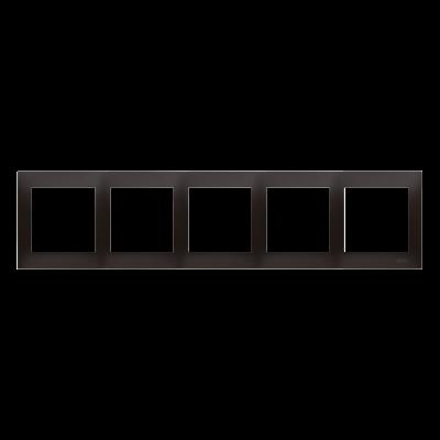 Simon 54 Premium ramka 5- krotna antracyt, metalizowany