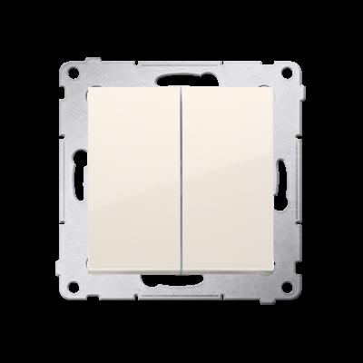 Łącznik świecznikowy (moduł) 16AX. 250V~. zaciski śrubowe; kremowy