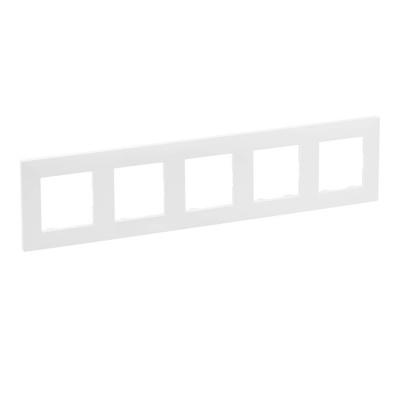 Niloe Step - ramka pięciokrotna 5x - kolor biały