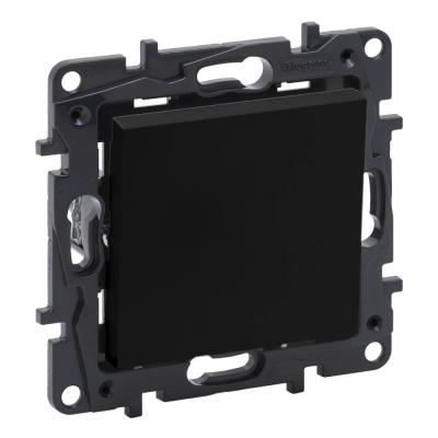 Niloe Step - przycisk pojedynczy 6 A- kolor czarny