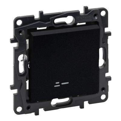 Niloe Step - łącznik jednobiegunowy 10 AX podświetlany- kolor czarny