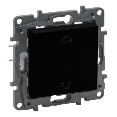 Niloe Step - przycisk sterowania roletami 2-pozycyjny - góra, dół, 6 AX- kolor czarny