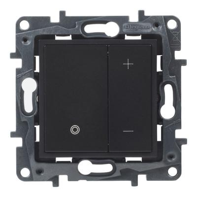 Niloe Step - ściemniacz przyciskowy 2-przewodowy- kolor czarny