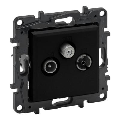 Niloe Step - gniazdo TV-R-SAT końcowe do instalacji typu gwiazda 1,5 dB- kolor czarny