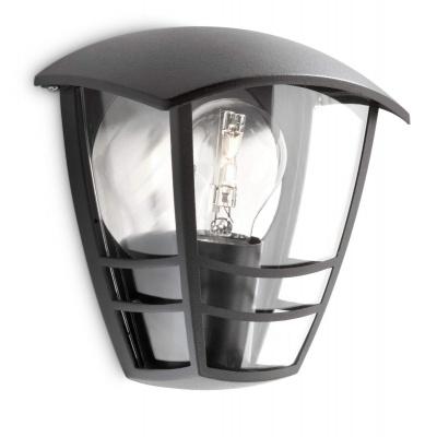 CREEK WALL LANTERN BLACK 1X60W 230V  15387/30/16