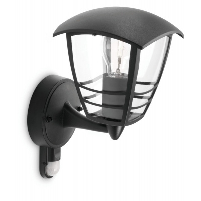 CREEK WALL LANTERN BLACK 1X60W 230V