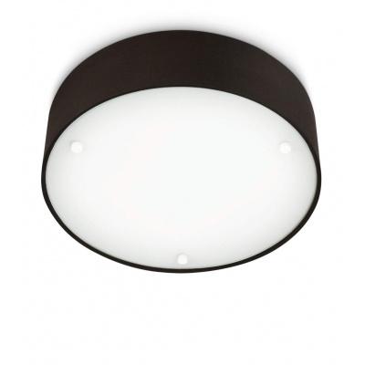 VELOUR CEILING LAMP BLACK 2X23W 230V 30175/30/16