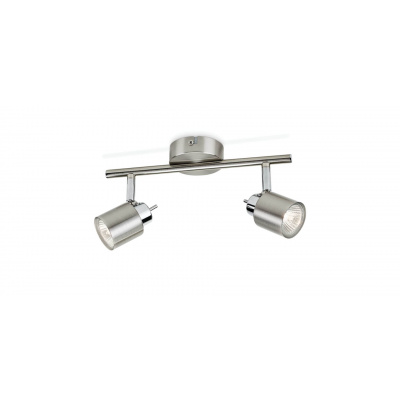 Meranti bar/tube nickel and brass plated 2X35W 230V