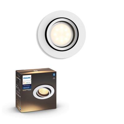 PHILIPS HUE Wbudowane światło punktowe rozszerzające Milliskin Białe Okrągłe