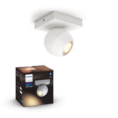 PHILIPS HUE Pojedyncze oświetlenie punktowe rozszerzające Buckram białe, White ambiance + LED GU10
