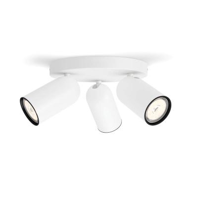 PONGEE plate/spiral White 3xNW 230V