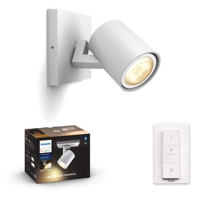 PHILIPS HUE Pojedyncze Oświetlenie punktowe Runner białe, White and color ambiance + LED GU10 + Regulator przyciemniania