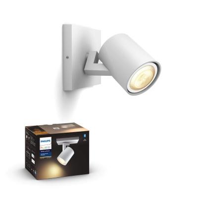 PHILIPS HUE Pojedyncze oświetlenie punktowe Runner białe, White ambiance + LED GU10