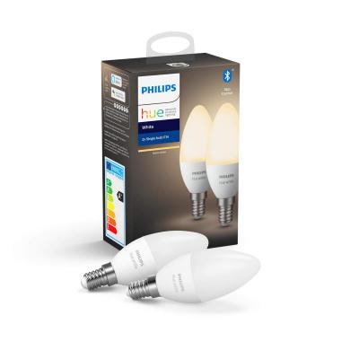 PHILIPS HUE- 2x Żarówka świecowa LED BLUETOOTH WHITE 5.5W E14