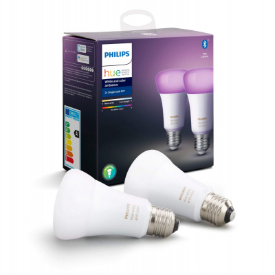 PHILIPS HUE- 2x Żarówka LED BLUETOOTH WHITE AND COLOR AMBIANCE 9W E27