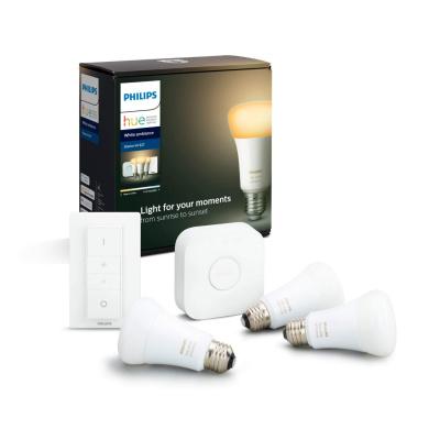 PHILIPS HUE- Zestaw startowy 3x LED BLUETOOTH WHITE AMBIANCE 9W E27 + Mostek + Regulator przyciemniania
